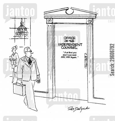 prosecutor cartoon humor: Office of the independent counsel.