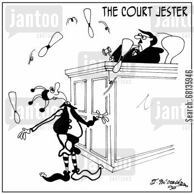 royal courts cartoon humor: The Court Jester