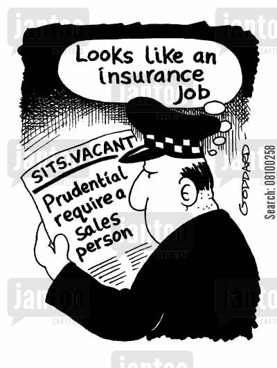 insurance jobs cartoon humor: Looks like an insurance job