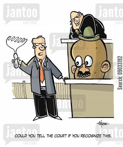 give evidence cartoon humor: 'Could you tell the court if you recognize this.'