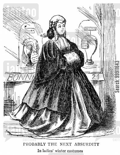 barrister cartoon humor: Women wearing wig and gown