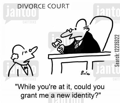 new identity cartoon humor: 'While you're at it, could you grant me a new identity?'