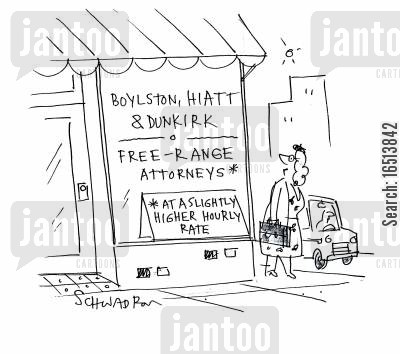 hourly rate cartoon humor: Free-Range Attorneys