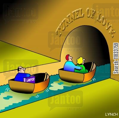 law book cartoon humor: Tunnel of Love