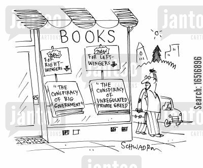 right wig cartoon humor: Conspiracy Books.