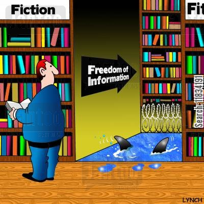 difficulties cartoon humor: Freedom of information