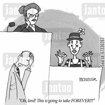 mime artist cartoon humor: 'Oh, lord! This is going to take FOREVER!'