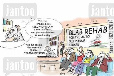 phone bans cartoon humor: Blab Rehab