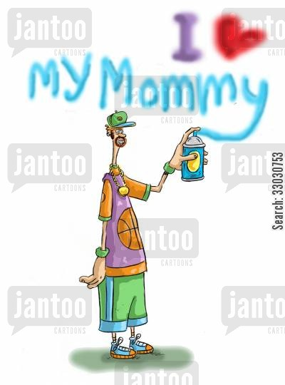 softy cartoon humor: 'I love my mummy'