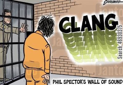 phil cartoon humor: Phil Spector's Wall of Sound.