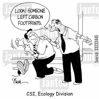 rubber gloves cartoon humor: CSI, Ecology Division.