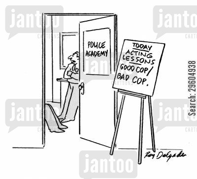 trainee cartoon humor: Acting lessons.