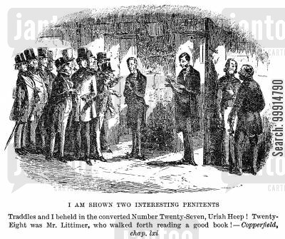 dickens cartoon humor: I am shown two interesting penitents