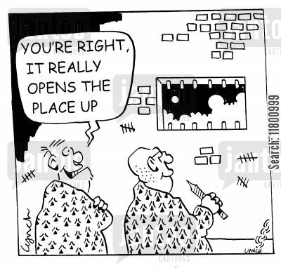 daylight cartoon humor: You're right. It really opens the place up.