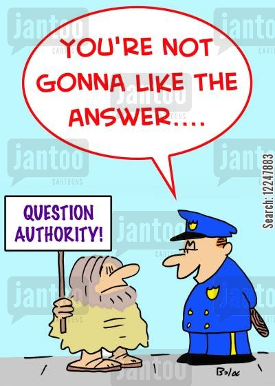 answer cartoon humor: 'You're not gonna like the answer....'