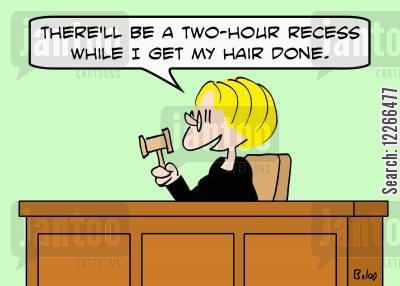 spas cartoon humor: 'There'll be a two-hour recess while I get my hair done.'