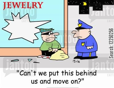 jewlry stores cartoon humor: 'Can't we put this behind us and move on?'