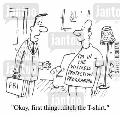 i cartoon humor: 'Okay, first thing...ditch the T-shirt.'