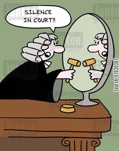 silence in court cartoon humor: Silence in Court!