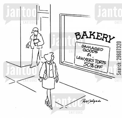 damaged goods cartoon humor: Damaged goods & lawyer's torts 50 off.