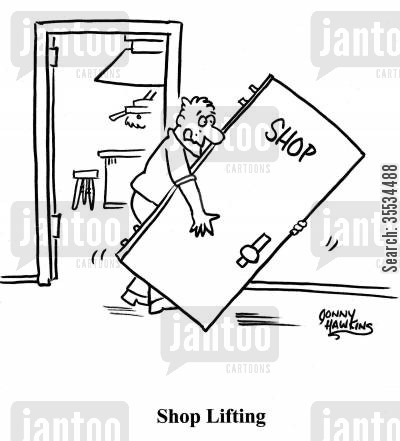shop class cartoon humor: Shop Lifting