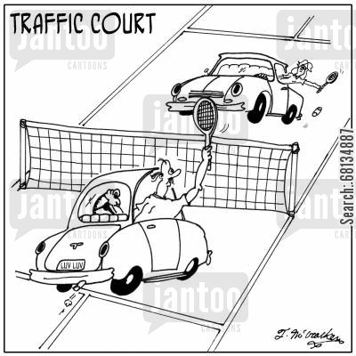 traffic court cartoon humor: Traffic Court