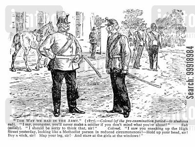 victorian officers cartoon humor: The Way We Had In The Army