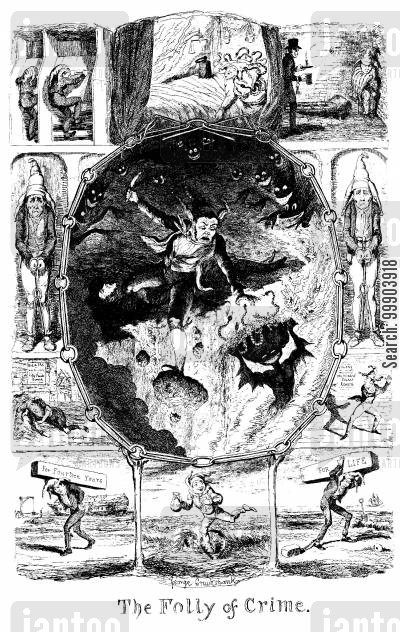 victorian england cartoon humor: The Folly of Crime