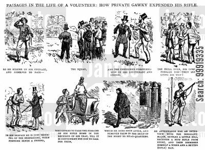 victorian soldier cartoon humor: Passages in the Life of a Volunteer