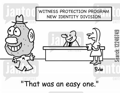 new identity cartoon humor: 'That was an easy one.'