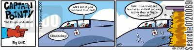 flying instructors cartoon humor: Captain Pointy No.15 - Landing lesson