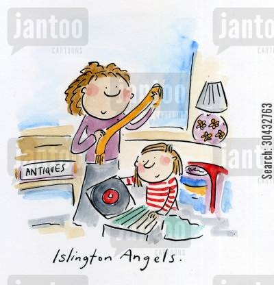 antique shops cartoon humor: Islington Angels.