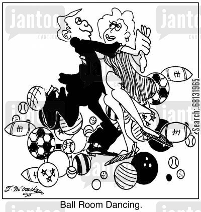 dance hall cartoon humor: Ball Room Dancing
