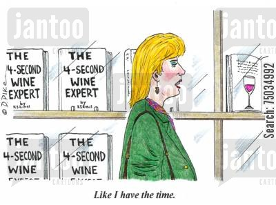bookshop cartoon humor: 'Like I have the time.'