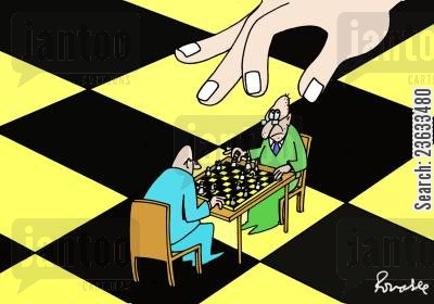 chess pieces cartoon humor: Chess
