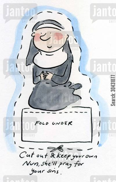postulant cartoon humor: Cut out and keep your own Nun.