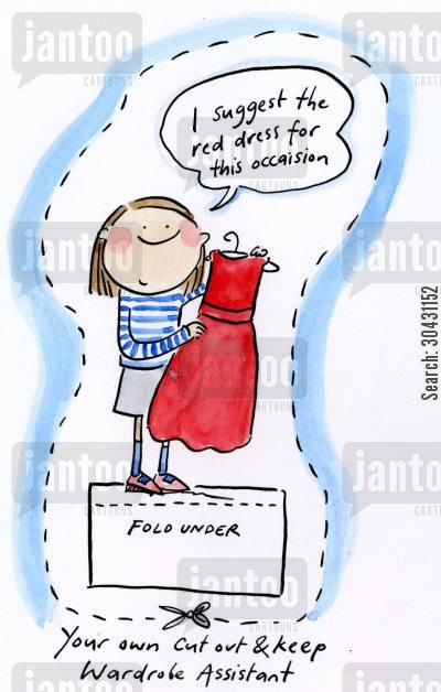 personal stylist cartoon humor: Cut out and keep your own Wardrobe Assistant.