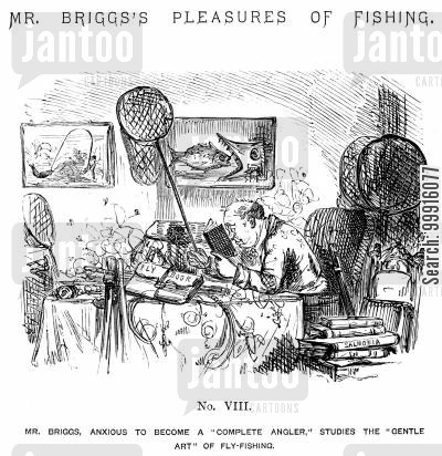 learning cartoon humor: Mr Briggs's Pleasures of Fishing - No. VIII