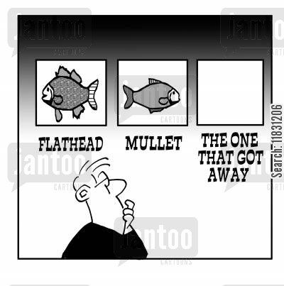 one that got away cartoon humor: The one that got away.