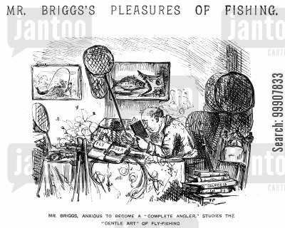 fishing nets cartoon humor: Mr Briggs's Pleasures of Fishing.