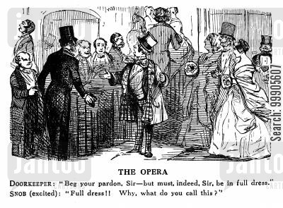 snobs cartoon humor: Visiting the Opera