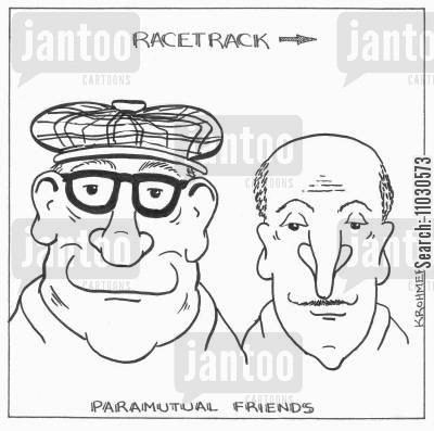 better cartoon humor: Paramutual friends.