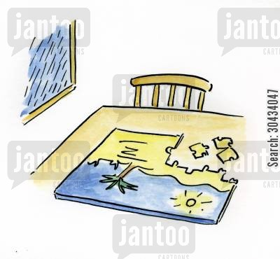 jigsaw piece cartoon humor: Jigsaw puzzle