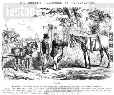 mr briggs's pleasures of horsekeeping cartoon humor: Mr Briggs's Pleasures of Horsekeeping - No. VI