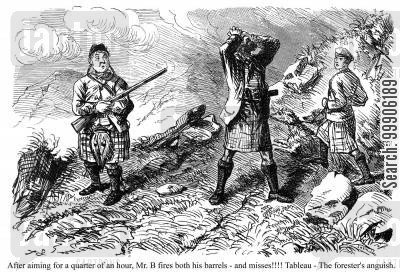 scottish highland cartoon humor: Mr. Briggs' Adventures in the Highlands, part 6.