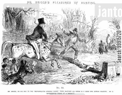 horse riding cartoon humor: Mr Briggs's Pleasures of Hunting - No. III