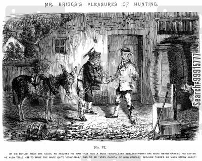 horse riding cartoon humor: Mr Briggs's Pleasures of Hunting - No. VI