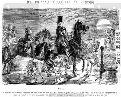 horse riding cartoon humor: Mr Briggs's Pleasures of Hunting - No. X