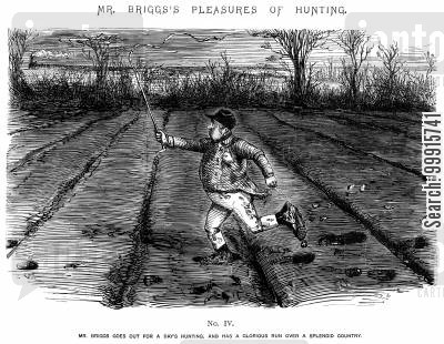 horse riding cartoon humor: Mr Briggs's Pleasures of Hunting - No. IV