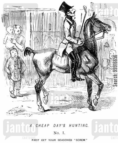 saving cartoon humor: A cheap day's hunting. - No. I.